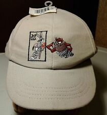 Looney Tunes Taz & Bugs Bunny Baseball Cap 1997 Stamp Collection USA MADE NWT