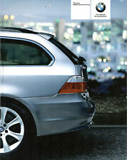 BMW 5-Series Touring E39 2004 UK Market Sales Brochure 525i 545i 525d 530d