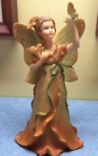 "Cloudworks Angel - Floral Girls Fairy Figurine - ""Lilly"" - 7"" - 42301 peach hues"