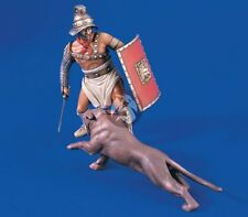 Verlinden 120mm (1/16) Roman Gladiator with attacking Panther (2 Figures) 1645