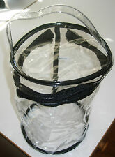 Plastic Clear Airline Travel Beach Tote Shopper Handbag Purse New