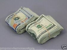 PROP MONEY USED LOOK (2) FAT FOLDS $20,000 Blank Filler for Movie, TV, Videos