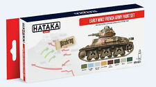 Hataka Hobby AS21 Early WWII French Army 1918-1940 Camouflage Paint Set