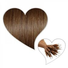 25 Nanoring - Strands 60 cm hazelnut brown#06 Hair extension without Microrings