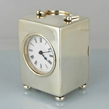 Antique Mappin & Webb Sterling Silver Hallmarked 8 Day Miniature Carriage Clock
