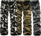Mens Winter Combat Military camouflage Army Camo Cargo Pants Casual Trousers