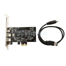 PCI-E Express to 2 Ports 6-Pin IEEE 1394a Firewire Video Capture Chip Card