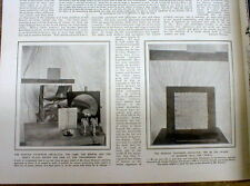 1909 illustrated newspaper w Earliest report describing INVENTION of TELEVISION
