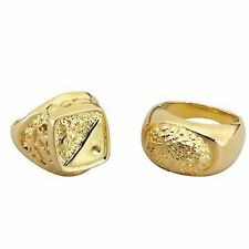 1 x Gold Sovereign Gangster Pimp Fany Dress Costume Jewellery Ring BA644