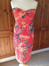 GORGEOUS KAREN MILLEN 2 PIECE FLORAL OUTFIT TOP UK SIZE 12 SKIRT UK SIZE 10 WORN