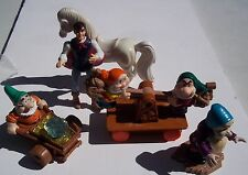 MCDONALDS SNOW WHTE & THE SEVEN DWARVES. 5 PIECES 1993 Happy Meal Toys. LOOSE