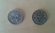 Used - DOS MONEDAS DE 10 0RE - SUECIA  - Usado - Item For Colecctors