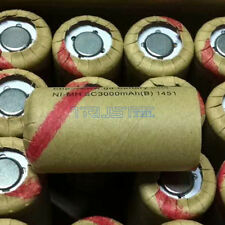 10 PCS Sub C Battery NiMh SC 3.0AH Rechargeable Battery Cell SubC 3000mAh New