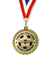Soccer Medal- Team Award- Minimum Order 6- Custom Wording- Free Neck Ribbon