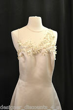 Reggio Ivory wedding gown Bride evening sexy lace pearls formal DRESS size 12