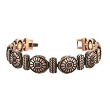 COPPER HIGH POWER MAGNETIC BRACELET CONCHO OR FLOWER MAGNET IN EVERY LINK 5334