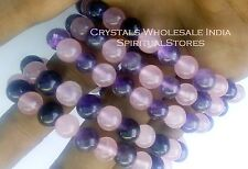 Rose + Amethyst COMBO bracelet //Best quality 7-8mm bead size