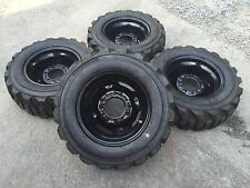 4-27X10.50-15 Deestone Skid Steer Tires/Wheels/Rims-27X10.5-15-for Bobcat & more