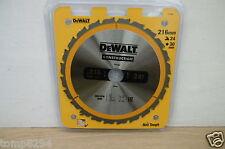 Dewalt DT1952 (DT1154) 216MM x 30MM alésage 24 dents tct circulaire mitre lame scie