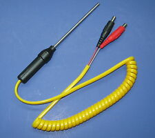 "K-Type Thermocouple 3"" Stainless Steel Probe with Banana Plug Connector f HVAC"