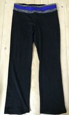 NWT Womens TANGERINE Black/ Blue Color Yoga Exercise Pants Size Small S $48