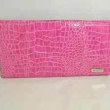 Miche Petite clutch purse shell bag Bubblegum pink faux alligator print