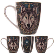 Lisa Parker Designed Fantasy Wolf Head New Bone China Tea Coffee Mug Cup MULP05
