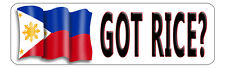 "Philippine Flag Decal Bumper Sticker Personalize Gifts White 3"" x 10"" Outdoors"