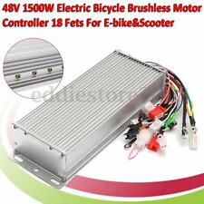 1500W 48V DC Brushless Motor Controller For E-bike Electric Scooter Bicycle NEW