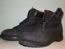 2000's Black Leather 8 inch Boots By Timberland Est. Men's Size 11 1/2- 12 Used