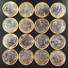 FULL SET 16 UNCIRCULATED COINS SPORTS 1 REAL BRAZIL 2016 RIO OLYMPIC GAMES