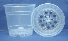 Clear Plastic Teku Pot for Orchids 4 1/2 inch Diameter - Quantity 2