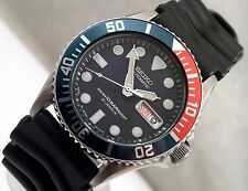 Seiko SKX033 'Submariner' Pepsi Dark Blue Day & Date Automatic Watch 7S26-0040