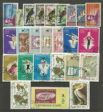 HAITI STAMP COLLECTION & PACKET of 25 DIFFERENT Used Stamps NICE SELECTION