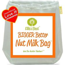 "Pro Quality Nut Milk Bag - Big 12""X12"" Commercial Grade by Ellie's Best NEW"