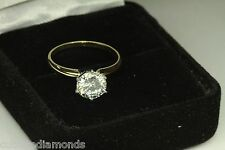 ENGAGEMENT RING WITH 1.50 CT ROUND IN YELLOW GOLD 6 PRONG