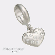Authentic Endless Sterling Silver White Million Heart Drop Bead 43600-1