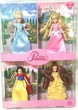 DISNEY PARS CLASSIC PRINCESS DOLLS MINI SET OF 4 CINDERELLA AURORA SNOW WHITE