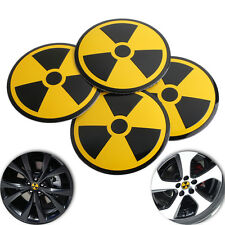 4x Car Wheel Center Cap Rim Hub Sticker Cover Emblem Bat Decal Tyres