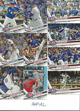 2017 Topps 1 Chicago Cubs Team Set Zobrist Arrieta Kris Bryant Anthony Rizzo 20