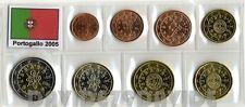 PORTOGALLO 2005 - SERIE COMPLETA 8 MONETE EURO 2005 FDC _ IN BLISTER