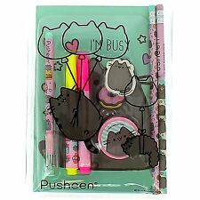 Pusheen the Cat Stationery Set Cute Kawaii School Gift Pens Pencils
