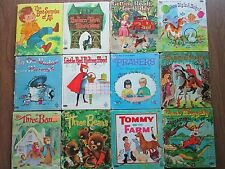 Lot of 12 vintage Tell-a-Tale children's books Uncle Wiggily and the Alligator