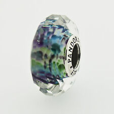 Pandora Tropical Sea Faceted Glass Charm in 925 Sterling Silver, 791610