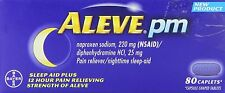 Aleve PM Naproxen Sodium 220mg/Diphenhydramine HCL 25mg Tablets 80ct Tablets