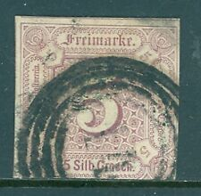 German States Thurn & Taxis 1859 5sgr Lilac Rare Used Scott #13 Cat $400.00