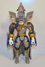 "2002 Gray Lunar Wolf Ranger Transformer 6.5"" Bandai Action Figure Power Rangers"