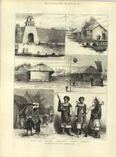 1883 The French In Cochin China Citadel Hue Soldiers Ministers Residence