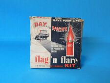 VINTAGE AUTOMOBILE KEMPO 1950'S FLAG 'N FLARE KIT DAY AND NIGHT AUTO CAR AAA