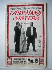 ANY MAN'S SISTER Herald W.C. HERMAN Tour CHICAGO Imperial Theatre 1916